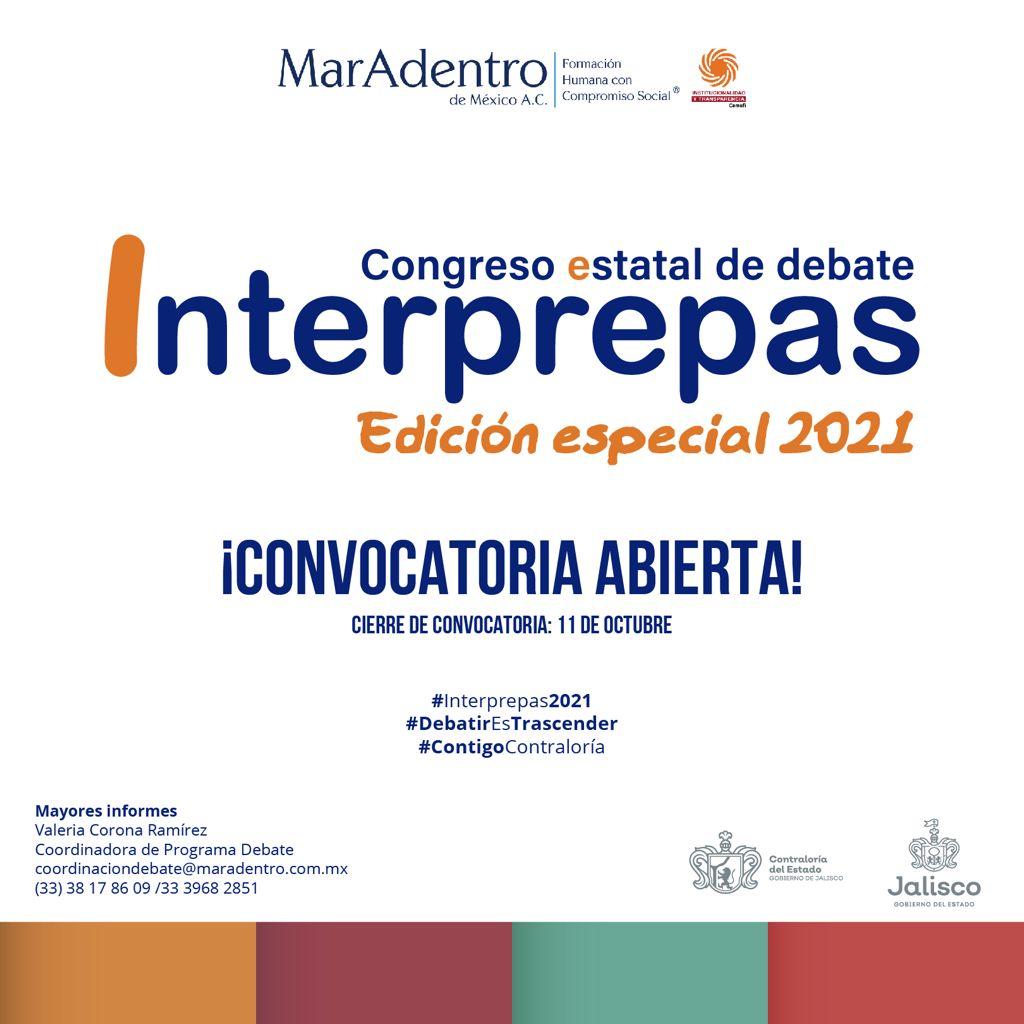 Congreso Estatal de Debate Interprepas, edición especial, 2021.